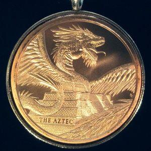 The AztecDRAGON Quetzalcoatl Rattle Snake Necklace